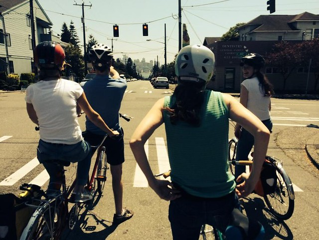 On a Bicycle Scavenger Hunt in Seattle