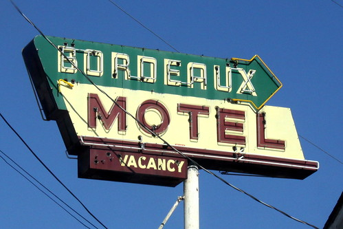 Bordeaux Motel neon sign