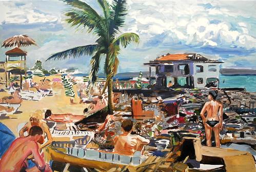 beach scene  (with detritus)