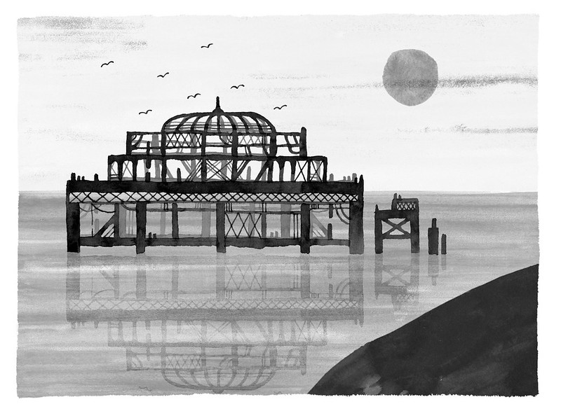 Payne, Theo. The West Pier. 2015. Digital Collage. Minneapolis.