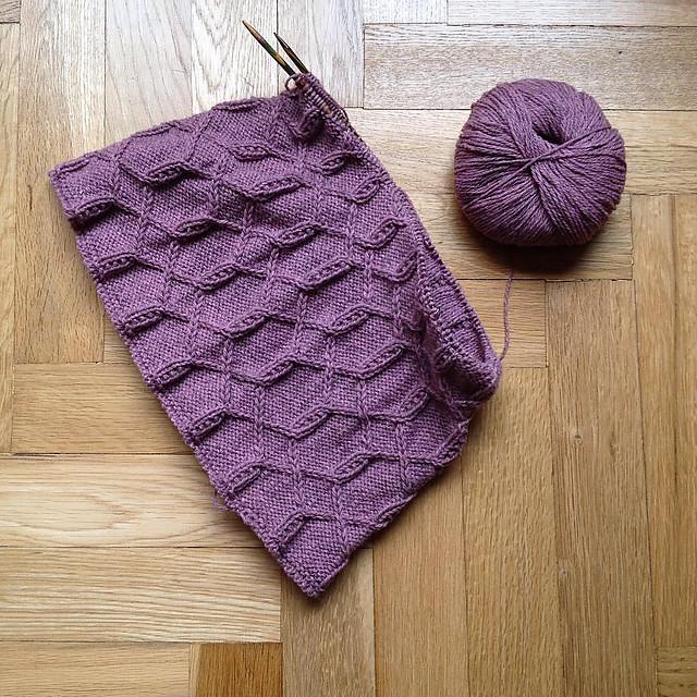 Gola tricotada em Mongólia3 da Fonty, pela Luísa