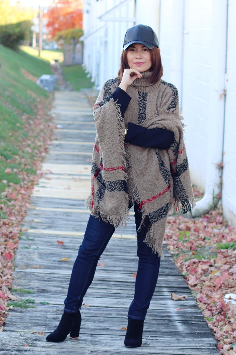 sammy-dress-plaid-poncho-faux-leather-cap-6