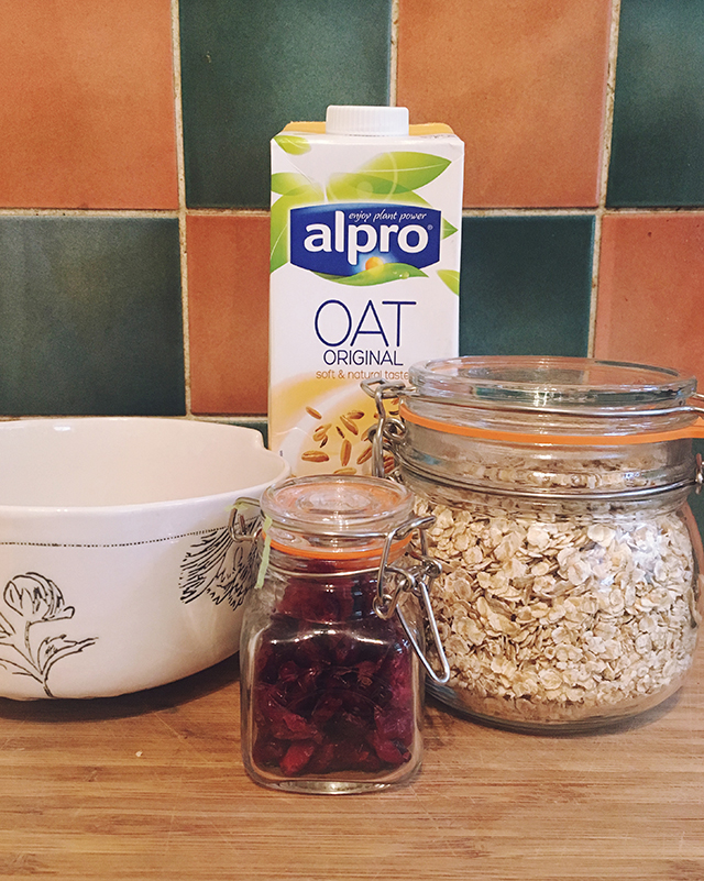 healthy topping for your porridge alpro oat original drink being little