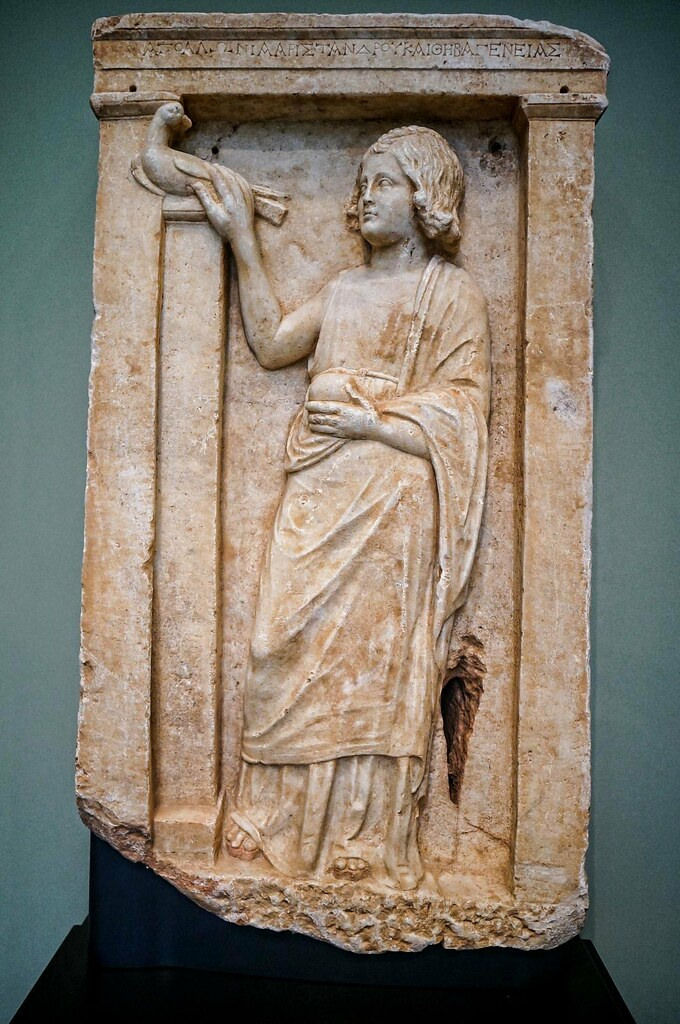 Gravestone Of A Seven Year Old Greek Girl Named Apollonia