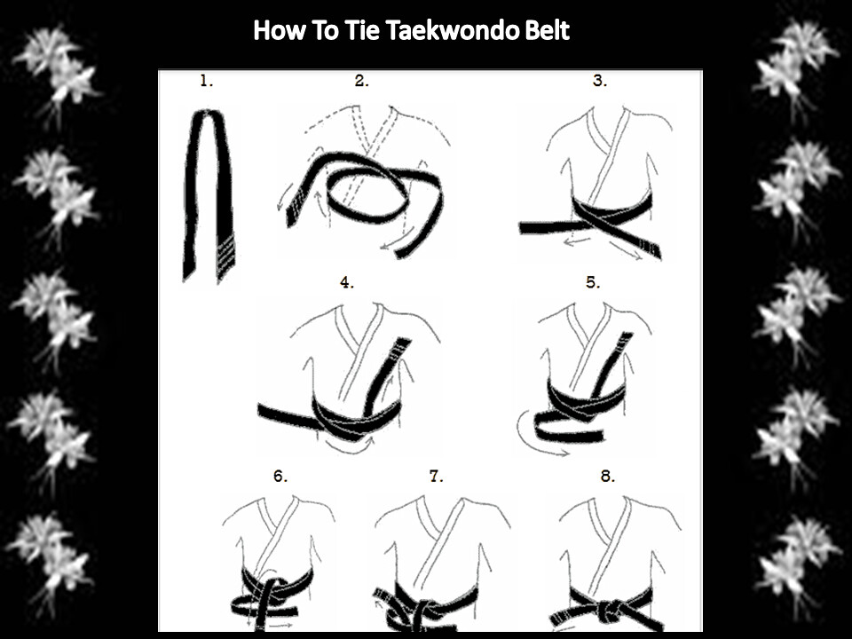 Find Out How to Tie A Black belt In Taekwondo | Are you a ...