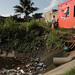 Polluted ditches and canals