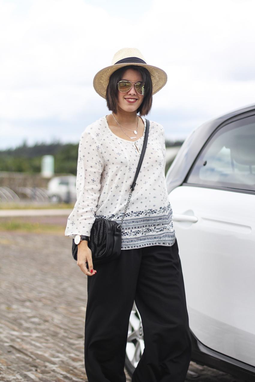 c&a colección verano 2015 blusa boho y sombrero y gafas de sol estilo rayban