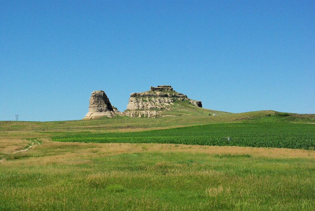Courthouse and Jail Rocks are two rock formations located near Bridgeport in the Nebraska Panhandle.