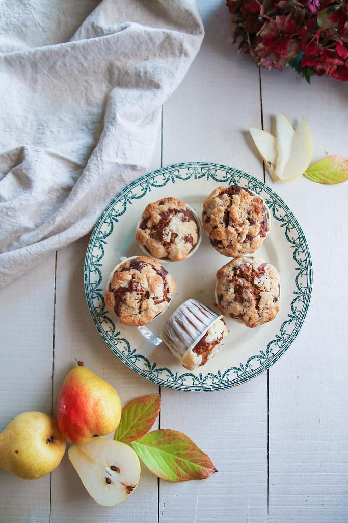 Muffins streusel à la poire