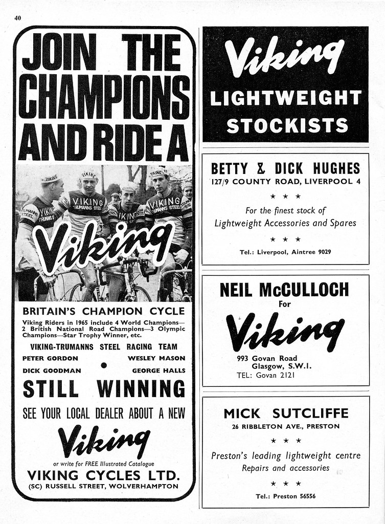 Viking Cycles Ad 1965 Scanned From Sporting Cyclist