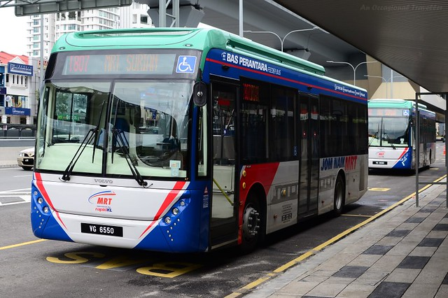 One of the MRT feeder buses at Surian station