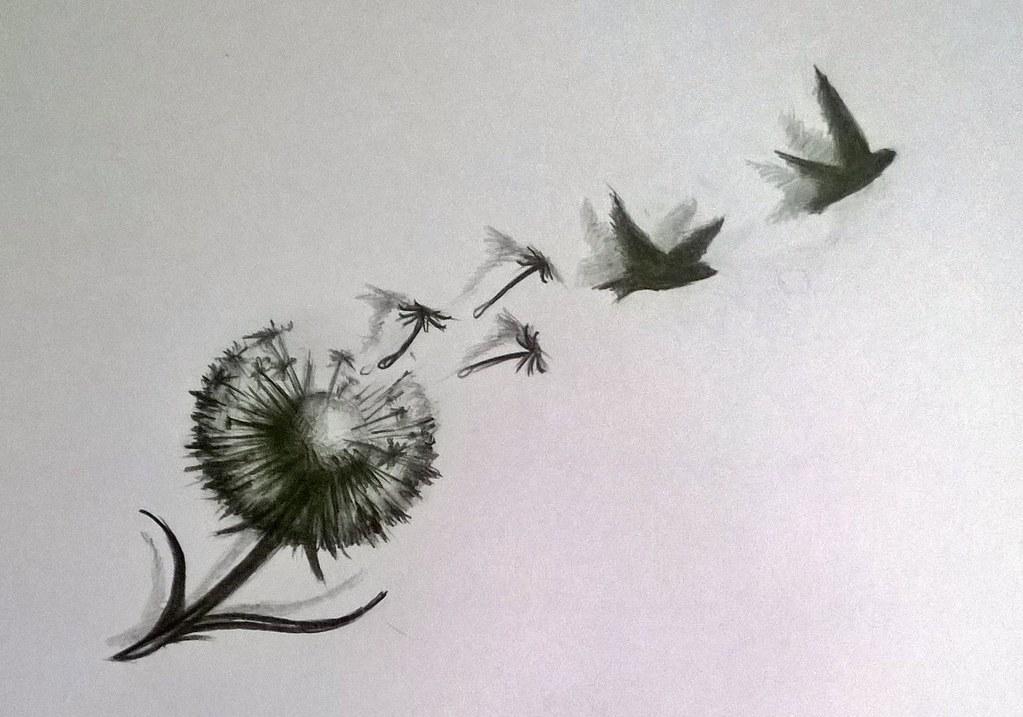 Dandelion Bird Tattoo: Pin By Ann H On So Nice