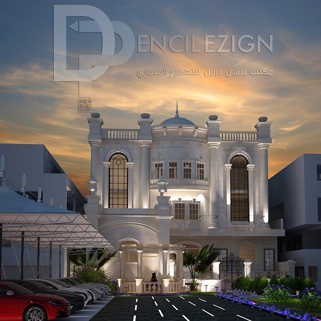 Classic exterior design from stone the project villa in for Classic villa exterior design