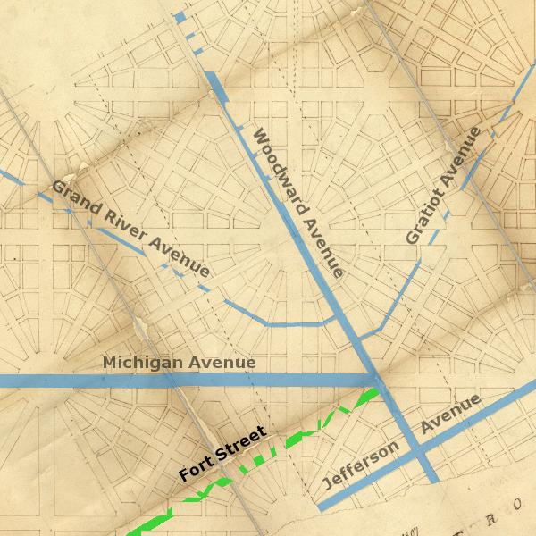 Detroit Urbanism: Radial Avenues Part VI: Fort Street on map of mason ohio, map of highlands ranch co, dart container mason mi, map of berkeley sc, cherry st mason mi,