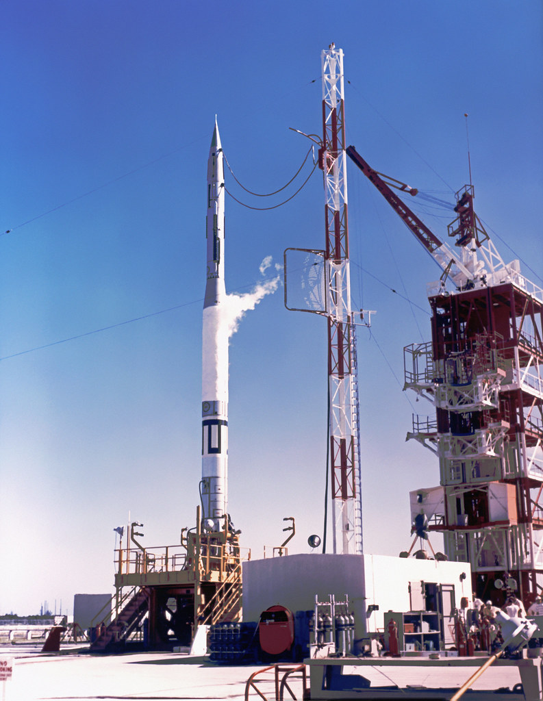 Vanguard Tv 2 Rocket Launched On October 23 1957 Pad
