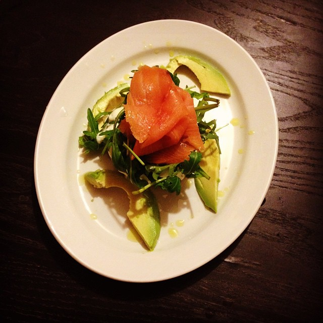 Salmon rosti with chive cream and lime vinaigrette #foodpo… | Flickr