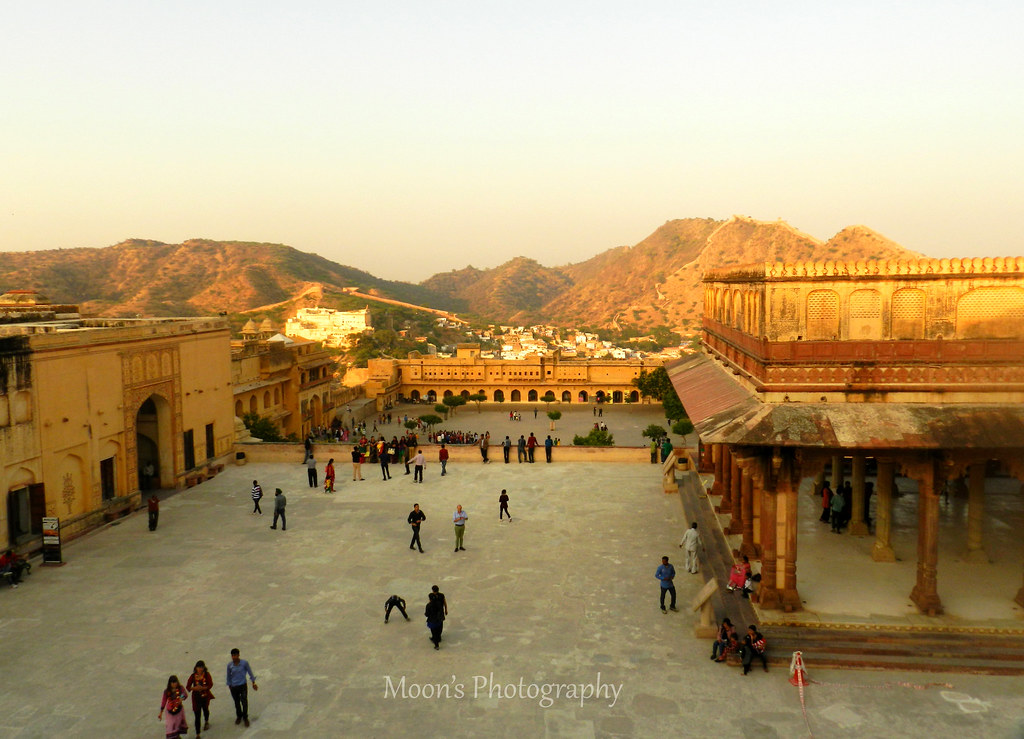 courtyard, amer fort, amer palace, amber fort, jaipur