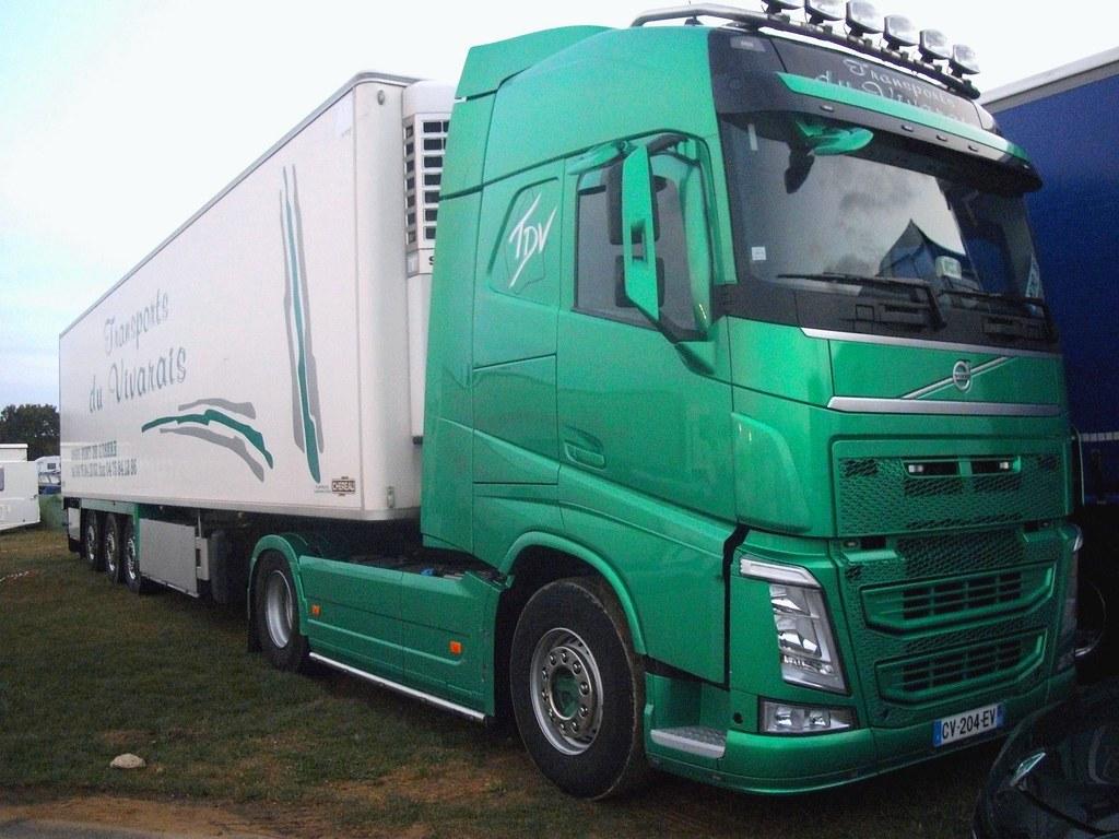 Volvo new fh semi remorque frigo transports du vivarais - Transporter un frigo couche ...