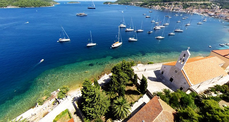 Bay on the island of Vis, Croatia