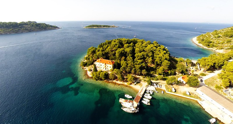 Aerial photo, island Vis, Croatia-2
