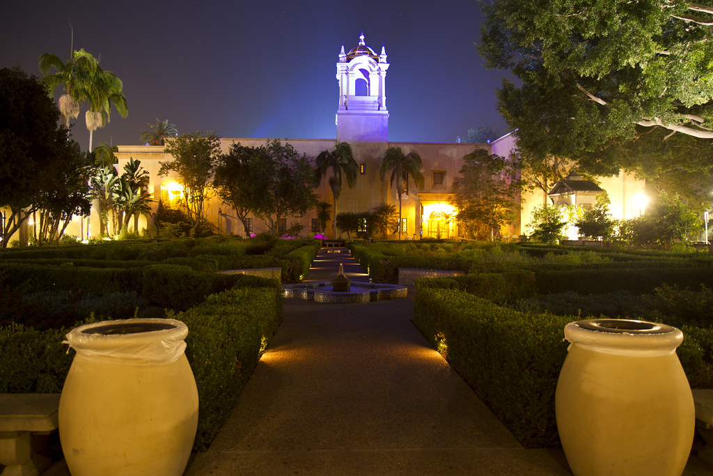 Balboa Park Rose Garden At Night Nathan Rupert Flickr