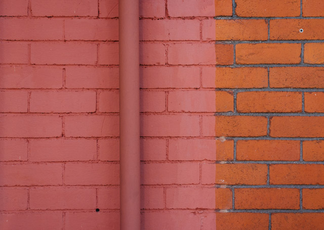 half pink wall