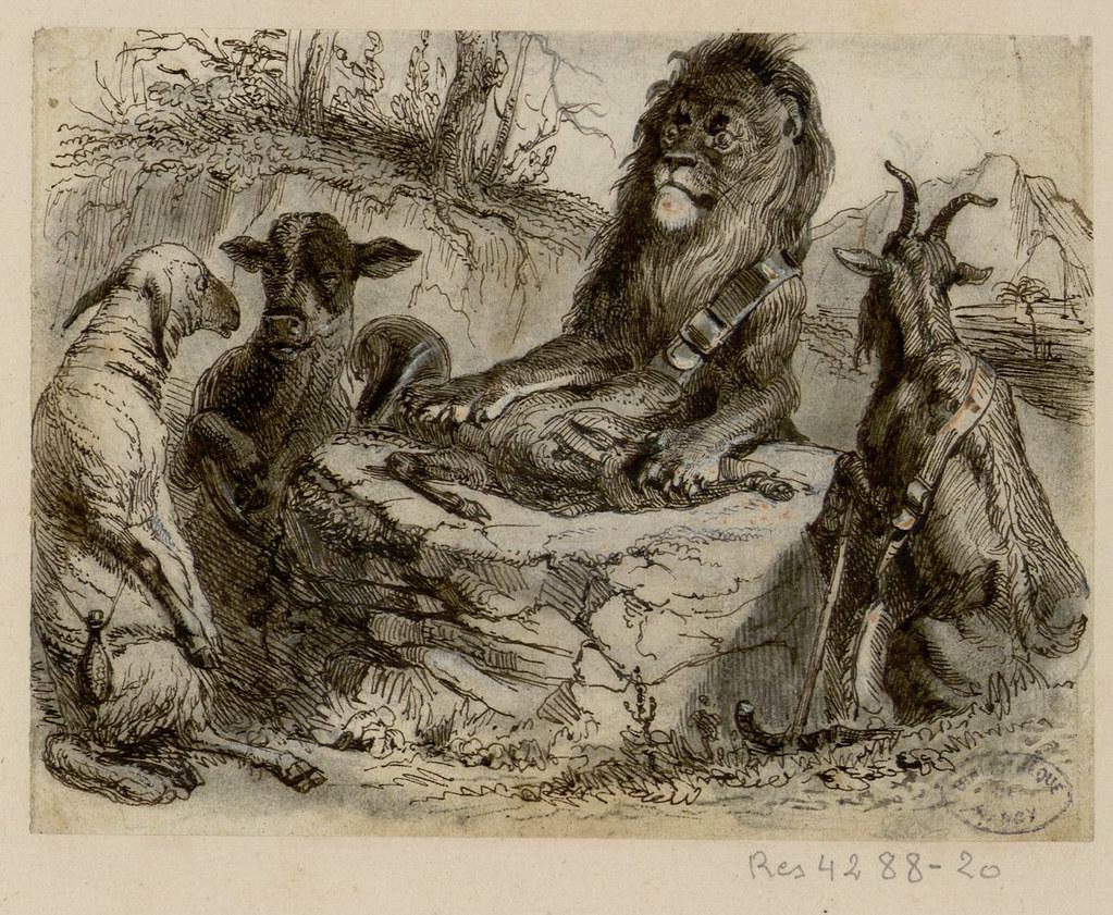 La G 233 Nisse La Ch 232 Vre Et Brebis En Soci 233 T 233 Avec Le Lion