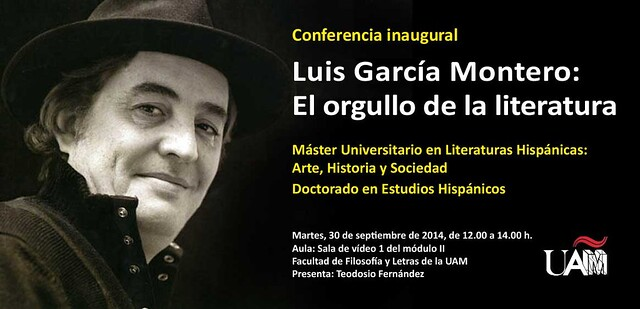 Luis García Montero, El orgullo de la literatura, Máster en Literaturas Hispánicas UAM
