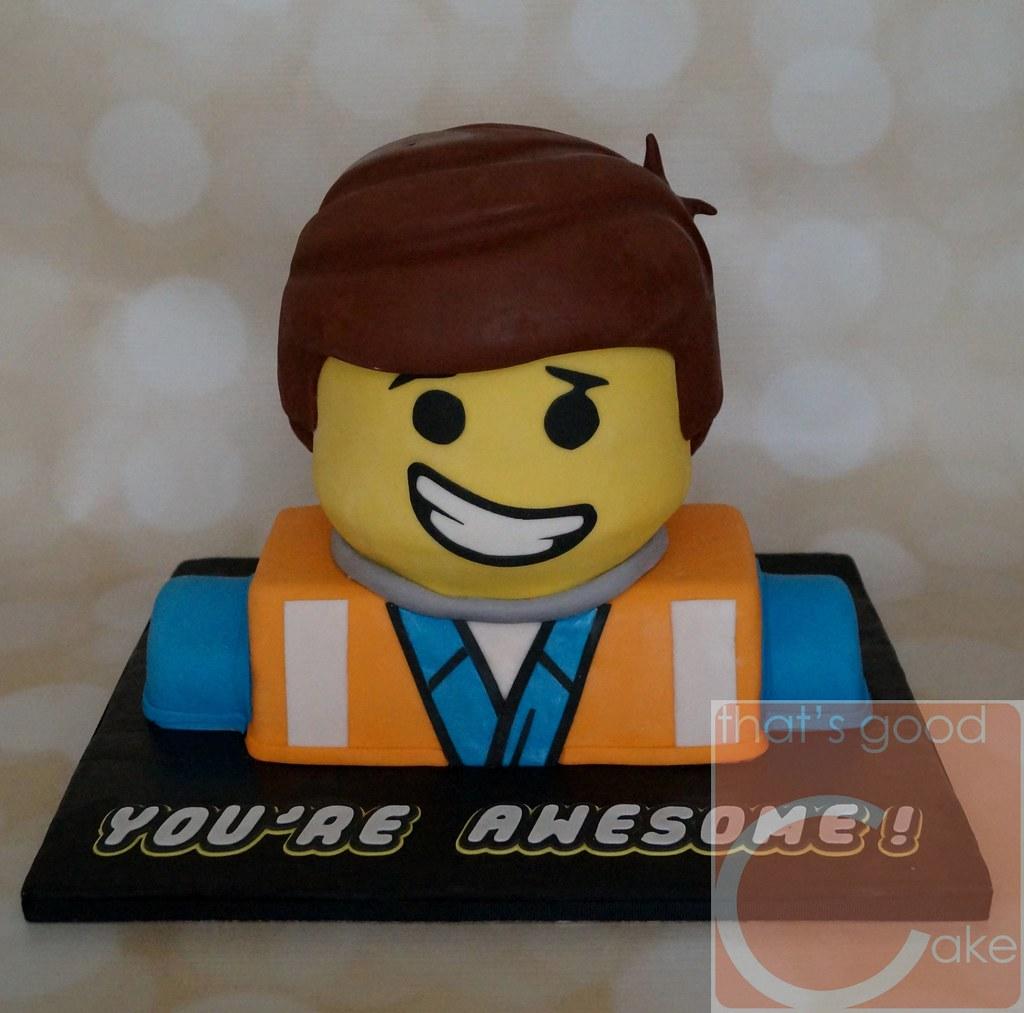 Lego Movie Emmet Cake Everything Is Awesome Everything