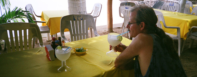 Margaritas in Colimilla, a short boat ride away from Barra de Navidad