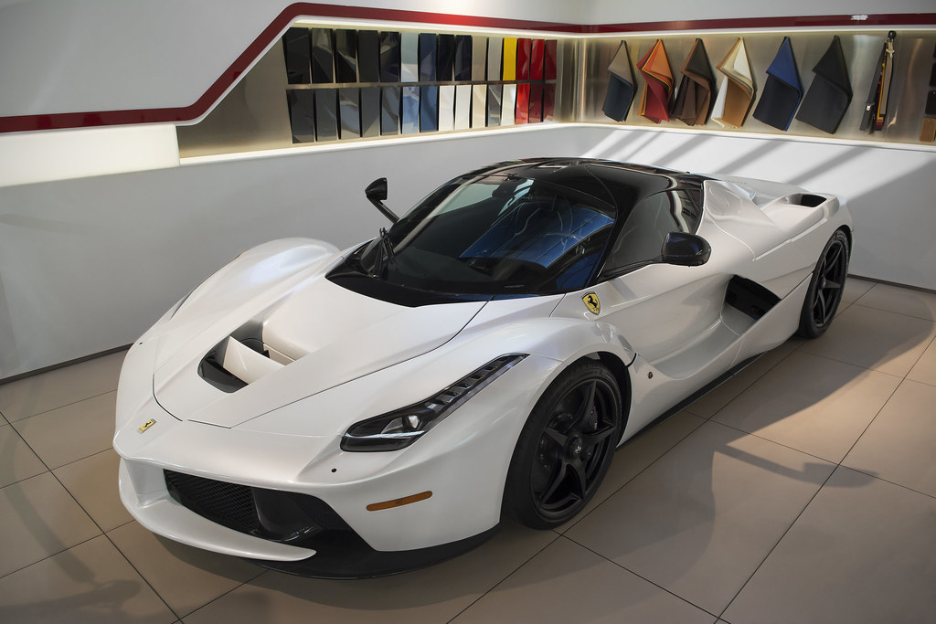 White Ferrari Laferrari Is Supreme Eye Candy Rare Find