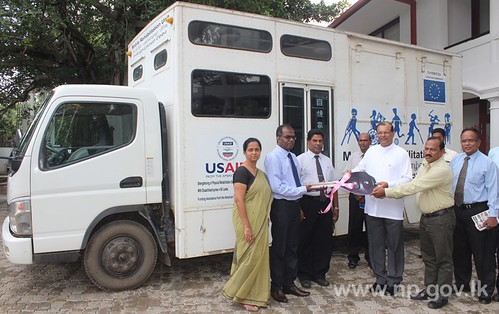 Mobile Rehabilitation Unit handed over to Kilinochchi RDHS – 19 November 2014