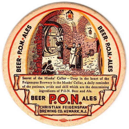 Feigenspan-PON-BeerAle-Coasters-Over-4-Inches-Christian-Feigenspan-Brewing
