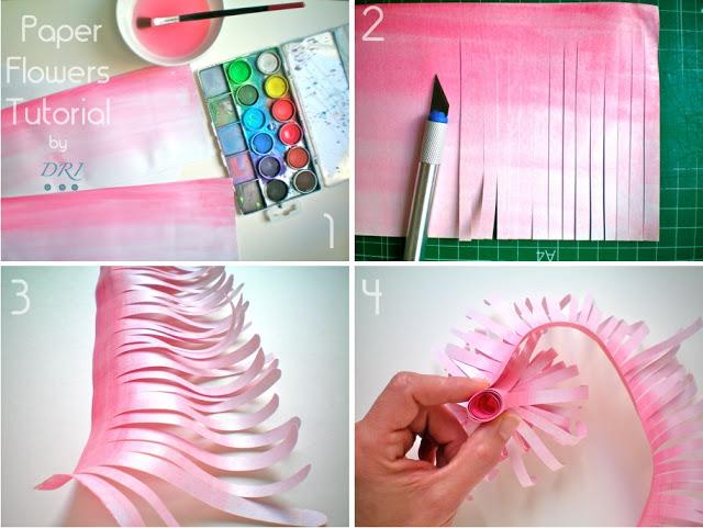 Как сделать своими руками цветы из бумаги цветной