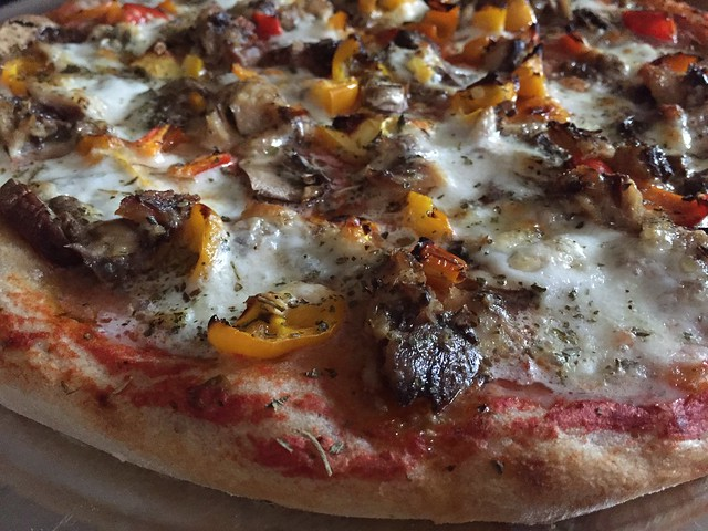 Sardine/Sweet Peppers/Crimini Mushrooms Pizza