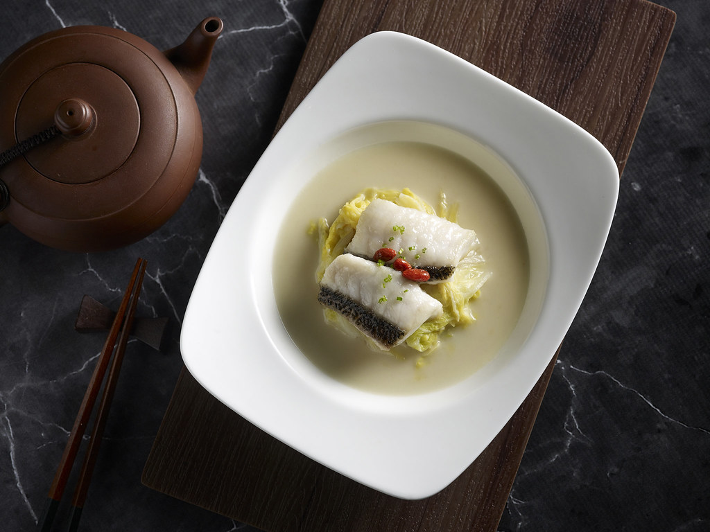 Super Peking Duck - Poached Soon Hock Fillet with Tianjin White Cabbage in Chicken Broth