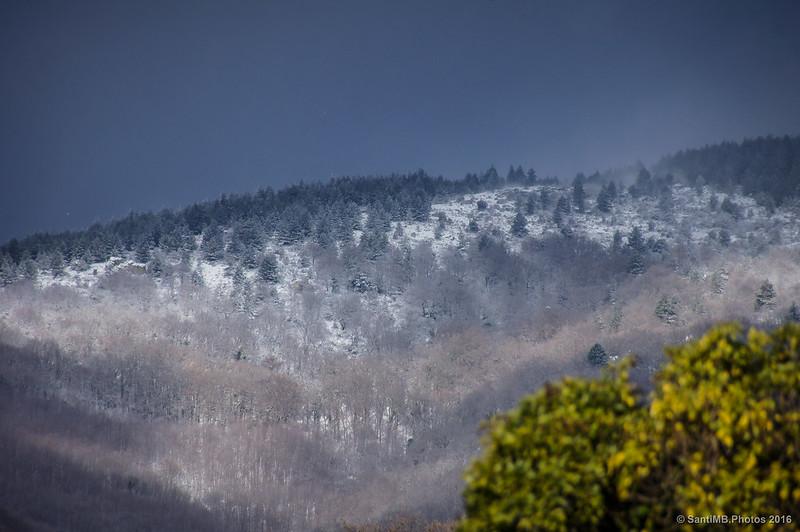 Nieve en Les Colladetes