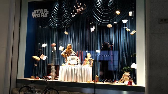 Star Wars display from far away