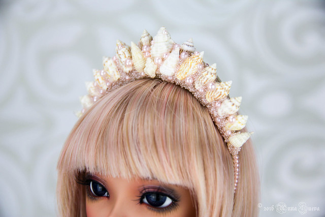 Pearl seashells headband