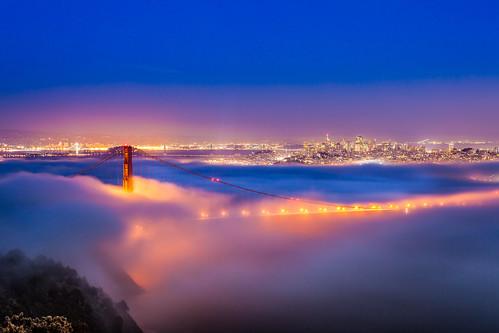 Golden Gate Bridge and San Francisco Fog