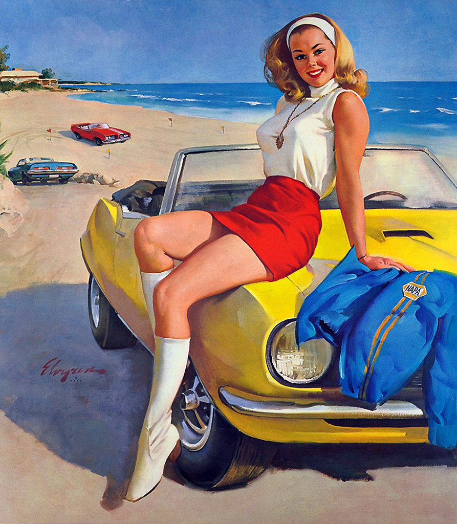 The Good Ride >> Gil Elvgren | A convertible and a beautiful blonde to ride ...