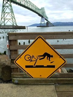 Caution on the bridge
