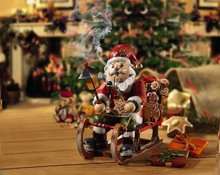 Papá Noel de madera de la tienda Käthe Wohlfahrt en Rothenburg (Norte de Baviera, Alemania)