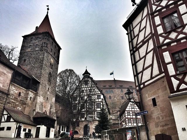 Vistas desde la casa de Alberto Durero en Nuremberg (Baviera, Alemania)