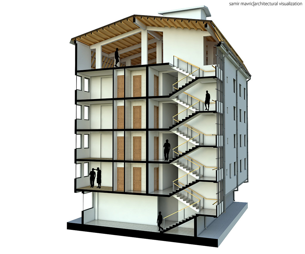 Building 3d section architectural visualization samir Build house online 3d free