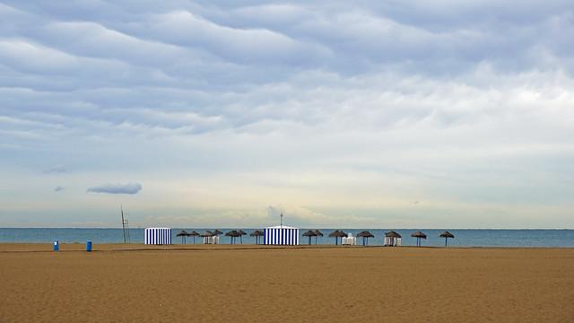 Пляж Лас-Аренас. Valencia Beach - las arenas