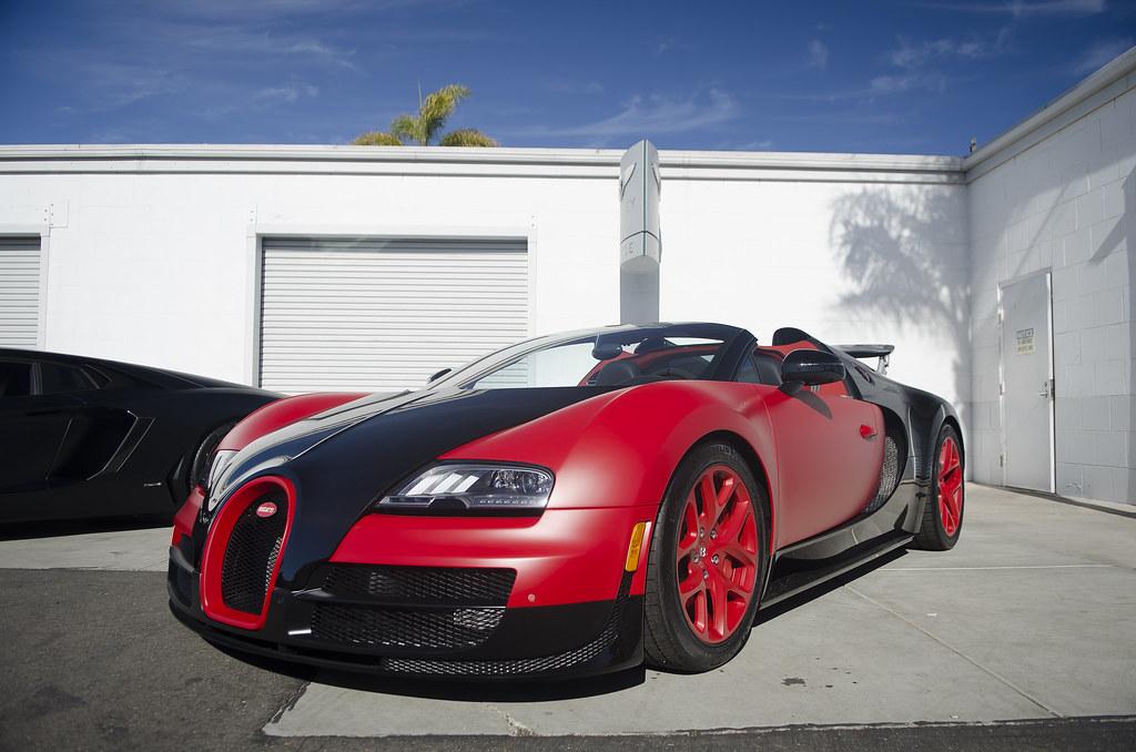 matte red black bugatti veyron grand sport vitesse flickr. Black Bedroom Furniture Sets. Home Design Ideas