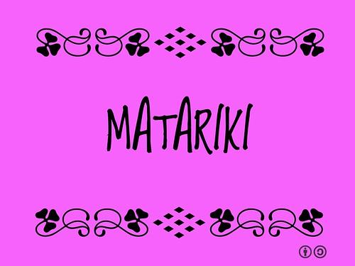 Buzzword Bingo: Matariki