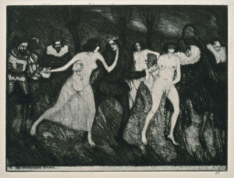 Stefan Eggeler - The Walpurgisnacht Portfolio (six etchings after Gustav Meyrinks) 1922 (2)