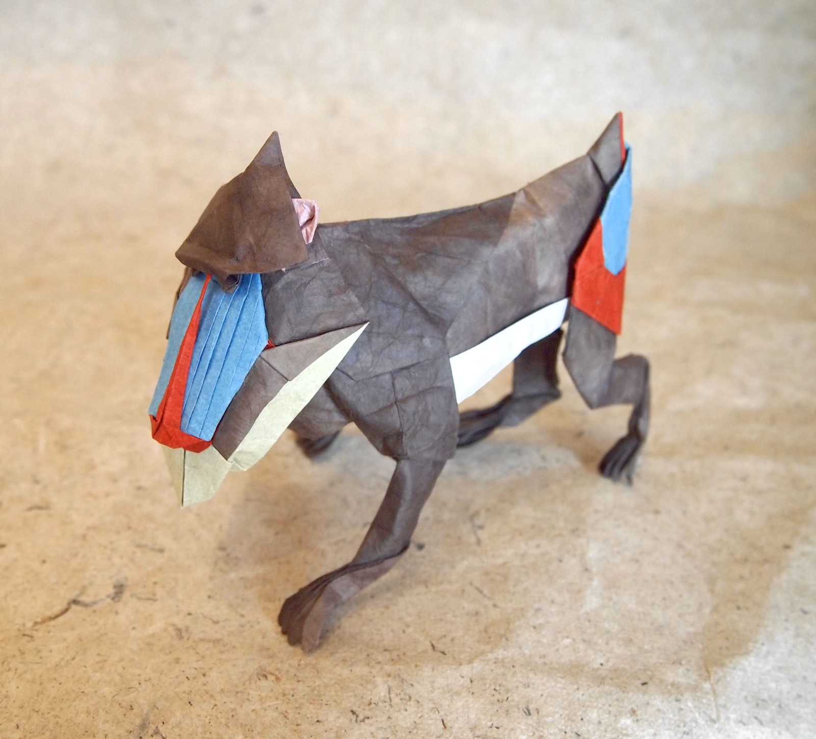 23 beary awesome origami animals that you otter see origami mandrill jeuxipadfo Choice Image